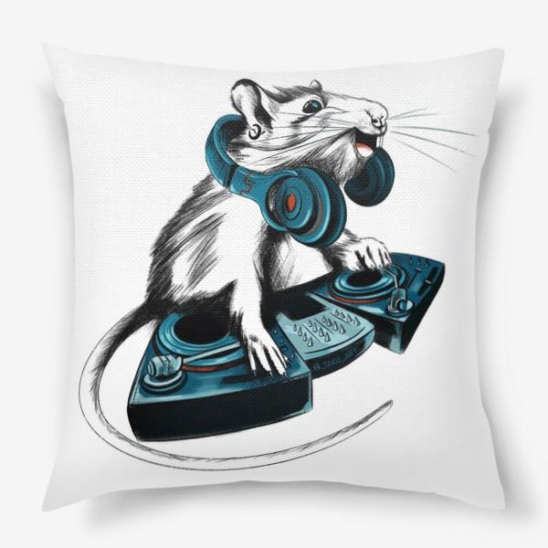 Подушка «Диджей крыса»