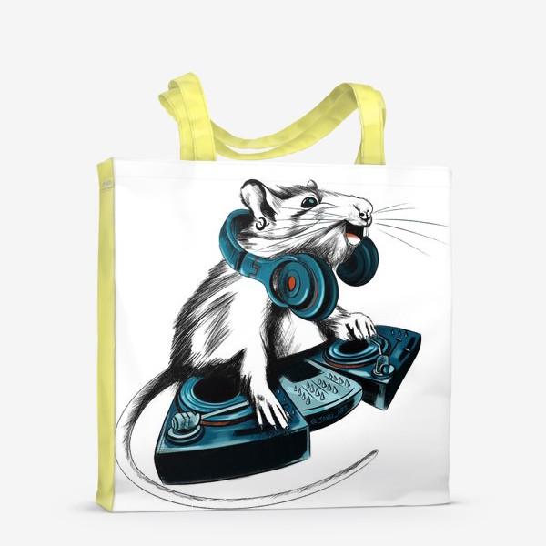 Сумка-шоппер «Диджей крыса»