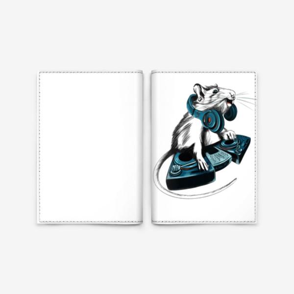 Обложка для паспорта «Диджей крыса»