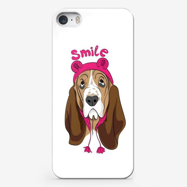Чехол iPhone «Собака в смешной шапочке»
