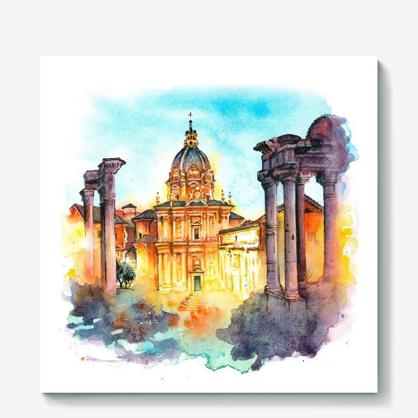 Холст «Watercolor Rome»