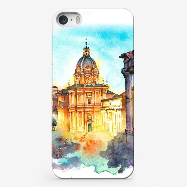Чехол iPhone «Watercolor Rome»
