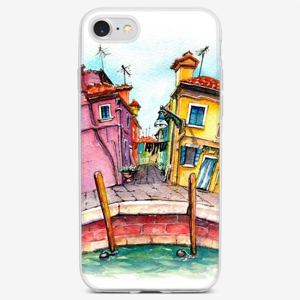 Чехол iPhone «Watercolor Burano, Venice, Italy»
