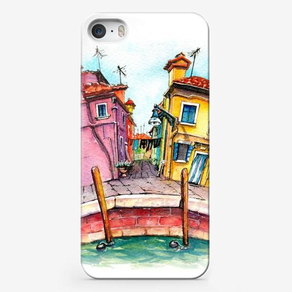 Чехол iPhone «Watercolor Burano, Venice, Italy»