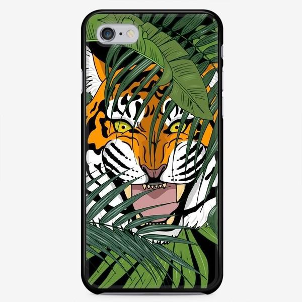 Чехол iPhone «тигр в джунглях»