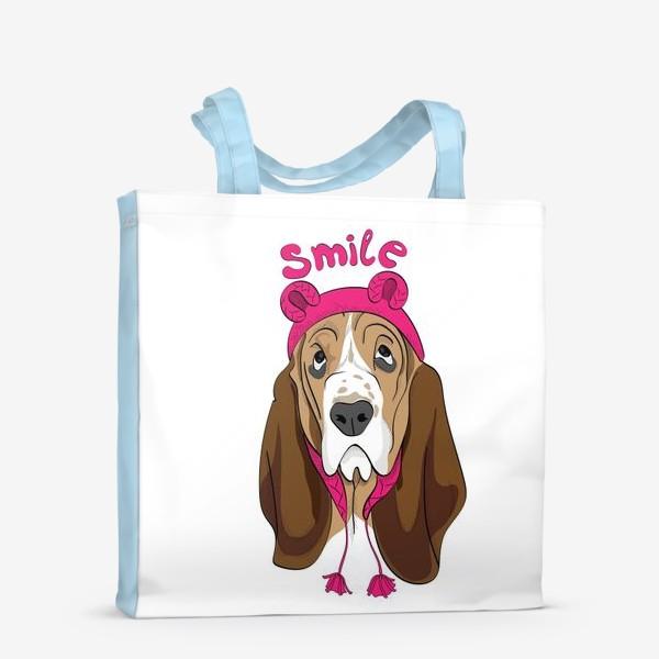 Сумка-шоппер «Собака в смешной шапочке»