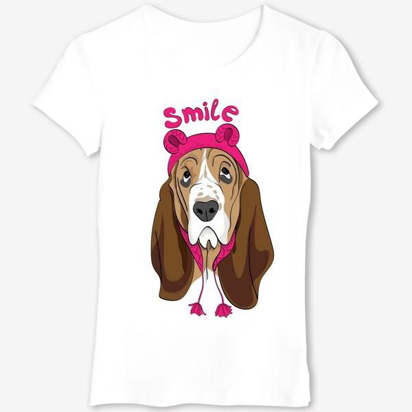 Футболка «Собака в смешной шапочке»