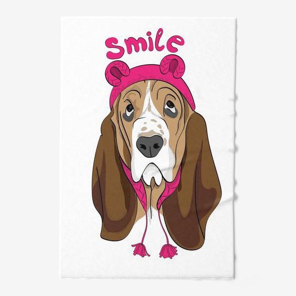 Полотенце «Собака в смешной шапочке»