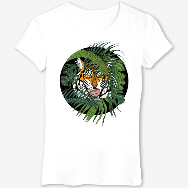Футболка «тигр в джунглях»