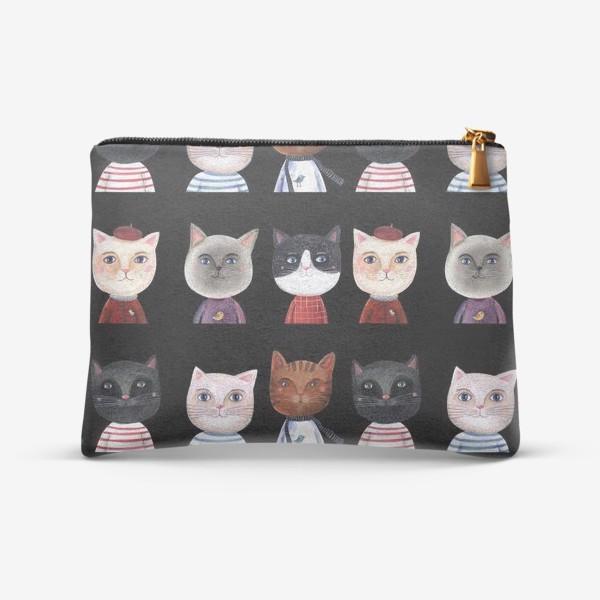 Косметичка «Паттерн Коты и Кошки»