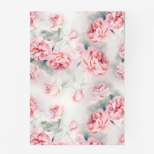Постер «Акварельные розы»