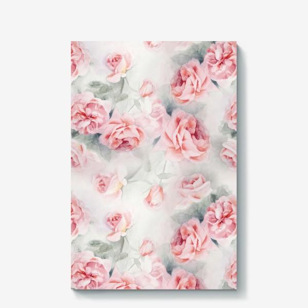Холст «Акварельные розы»