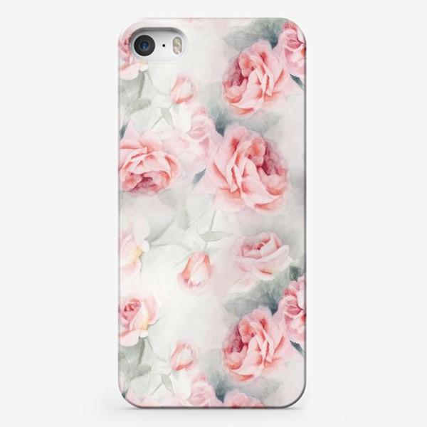 Чехол iPhone «Акварельные розы»