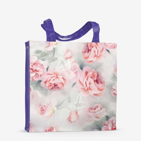 Сумка-шоппер «Акварельные розы»