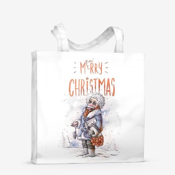 Сумка-шоппер «Рождественский  Эйнштейн»