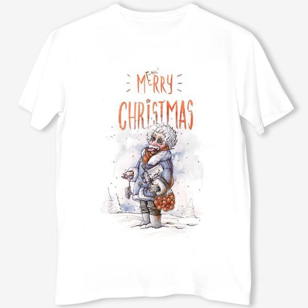 Футболка «Рождественский  Эйнштейн»