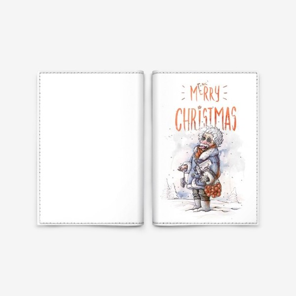 Обложка для паспорта «Рождественский  Эйнштейн»