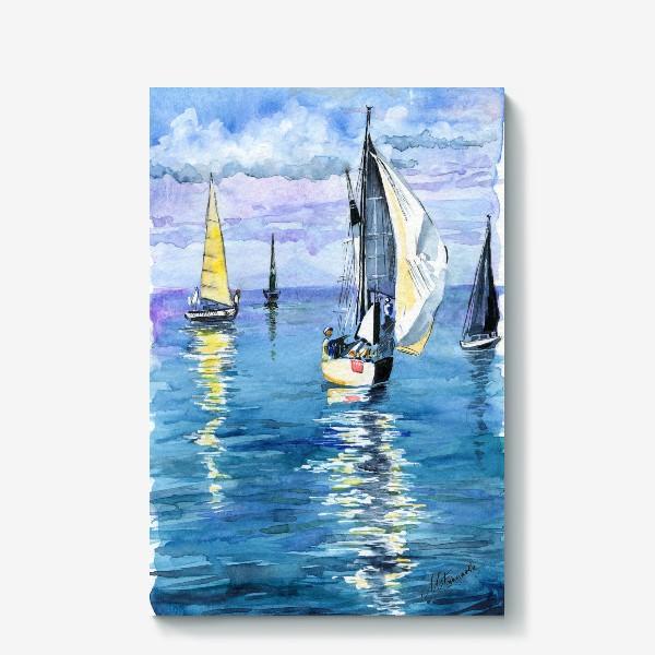 Холст «Море. Яхты»