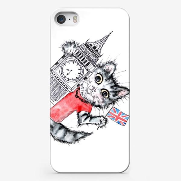 Чехол iPhone «Коты учат. Учитель английского»