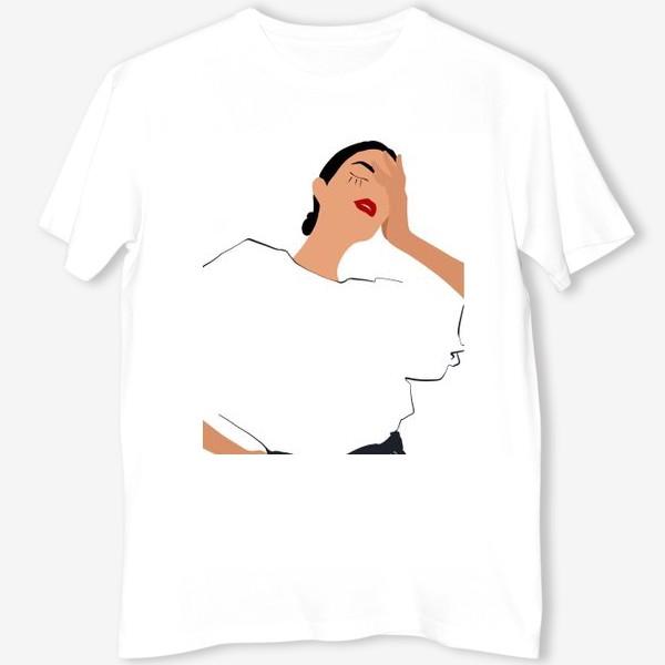 Футболка «Девушка в белом»