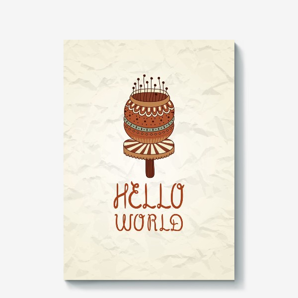 Холст «Hello world_2»