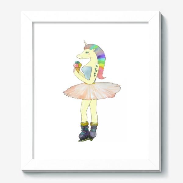 Картина «Радужный единорог на роликах »