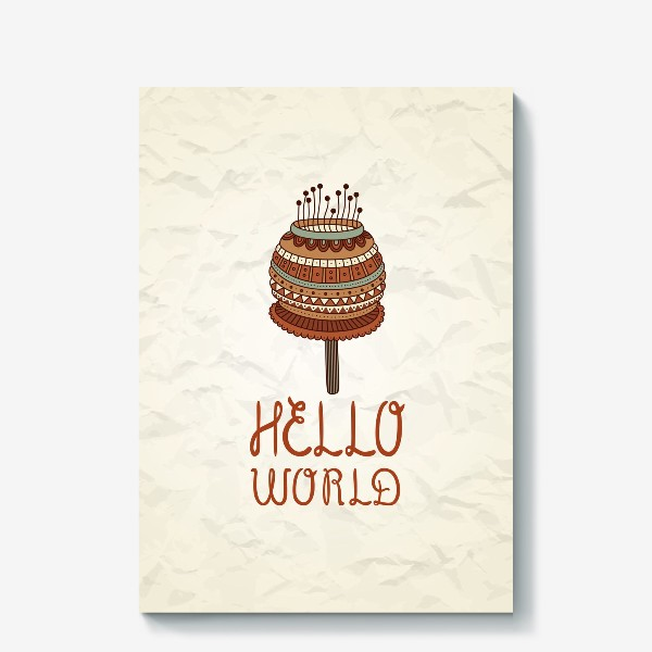 Холст «Hello world_4»