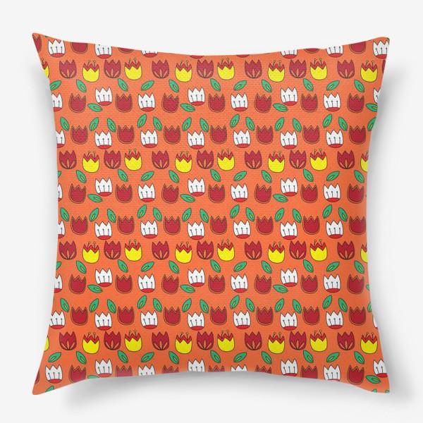 Подушка «Тюльпаны»