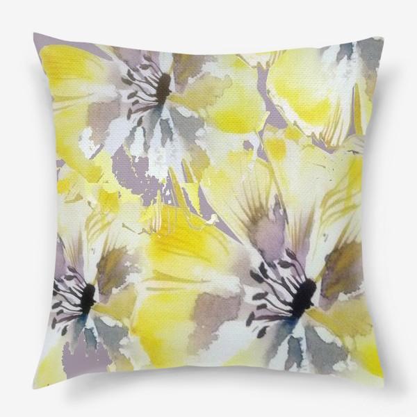 Подушка «Желтые цветы»