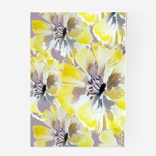 Постер «Желтые цветы»