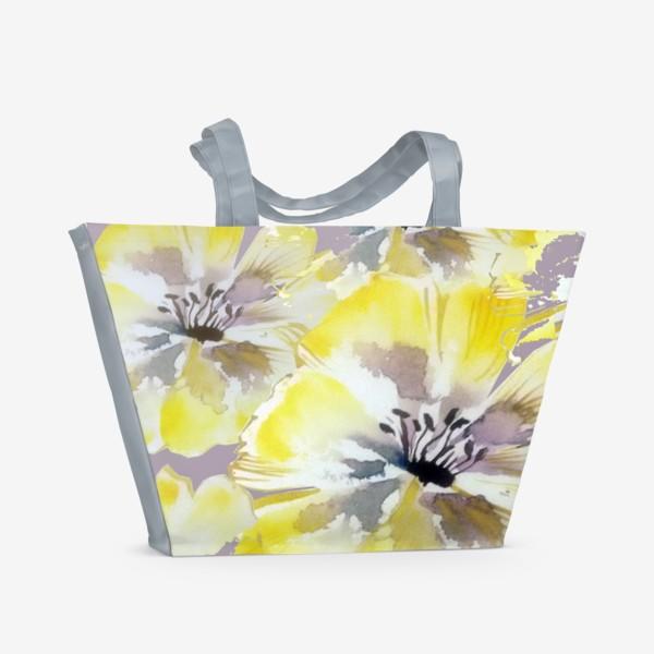 Пляжная сумка «Желтые цветы»