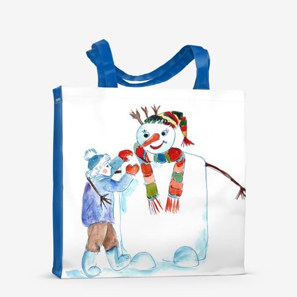 Сумка-шоппер «Мальчик и снеговик»