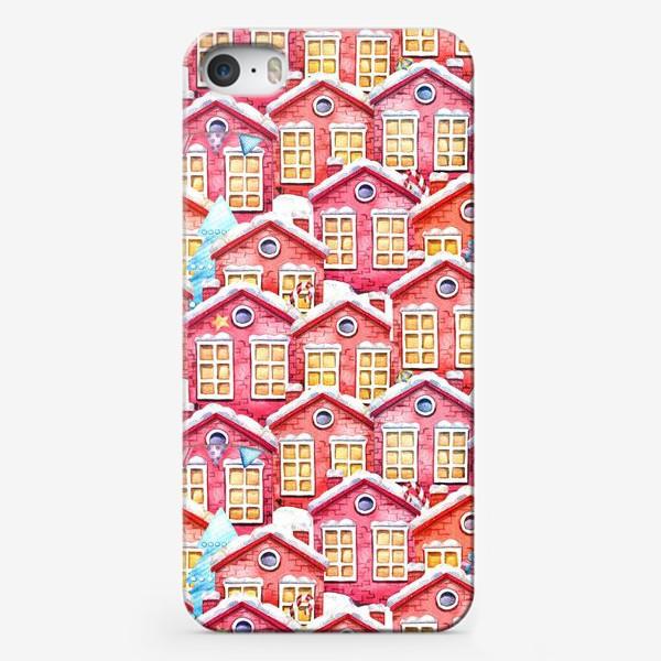 Чехол iPhone «Новогодние домики»