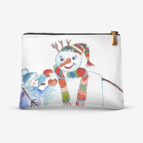 Косметичка «Мальчик и снеговик»