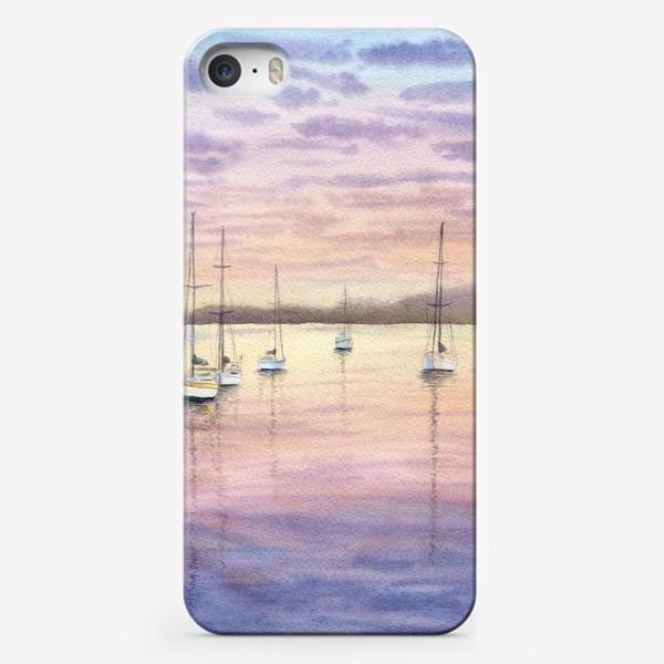 Чехол iPhone «Яхты на закате»