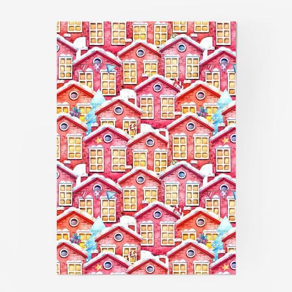 Постер «Новогодние домики»