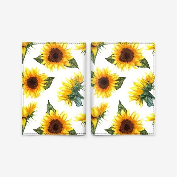 Обложка для паспорта «Солнечные цветы»