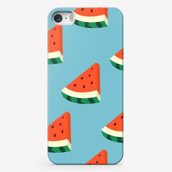 Чехол iPhone «Арбузные дольки паттерн»