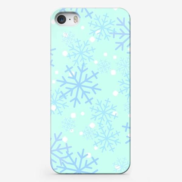 Чехол iPhone «Снежинки паттерн»
