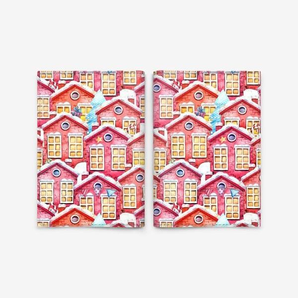 Обложка для паспорта «Новогодние домики»