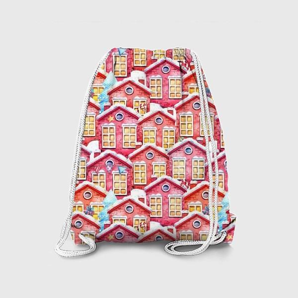 Рюкзак «Новогодние домики»
