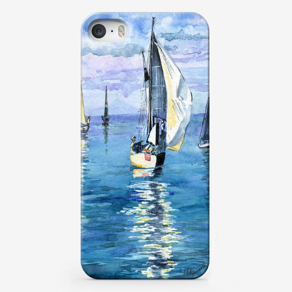 Чехол iPhone «Море. Яхты»