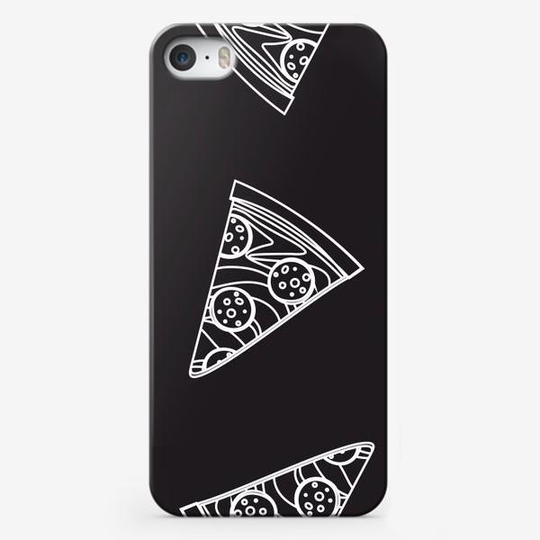Чехол iPhone «Пицца рисунок мелом»