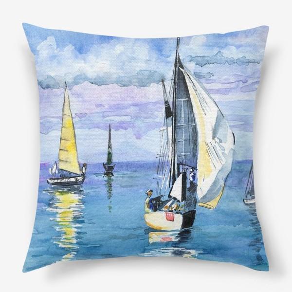 Подушка «Море. Яхты»