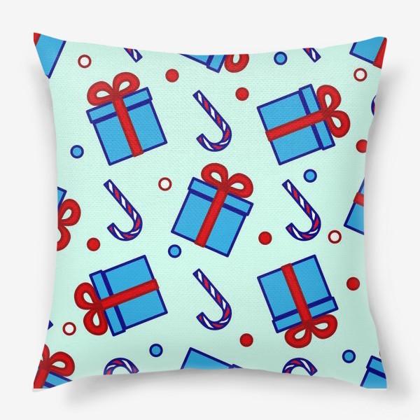Подушка «Подарки и леденцы»