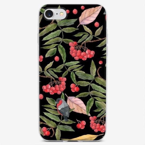 Чехол iPhone «Рябина и снегири»