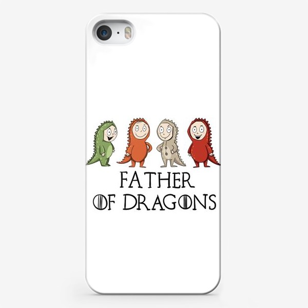 Чехол iPhone «Father of 4 dragons»