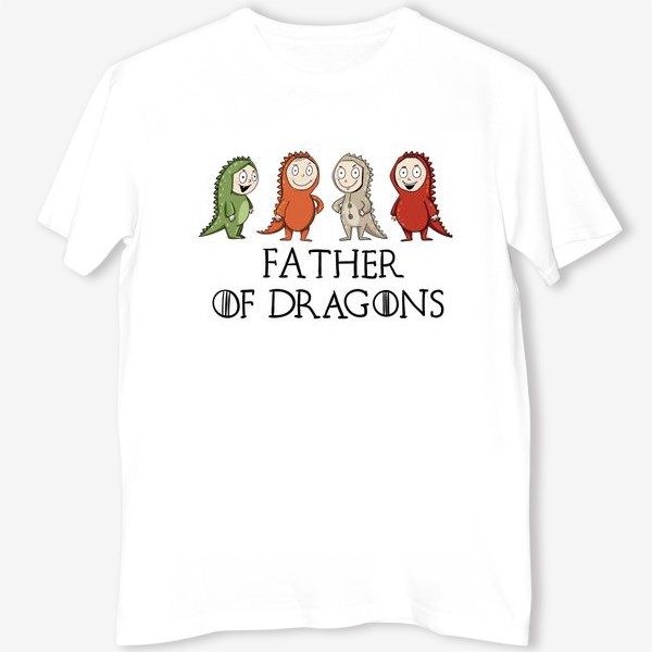 Футболка «Father of 4 dragons»