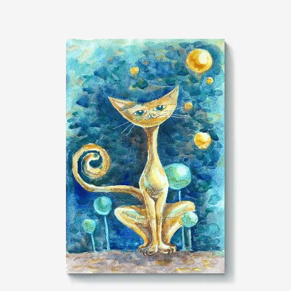 Холст «Лунный Кот»