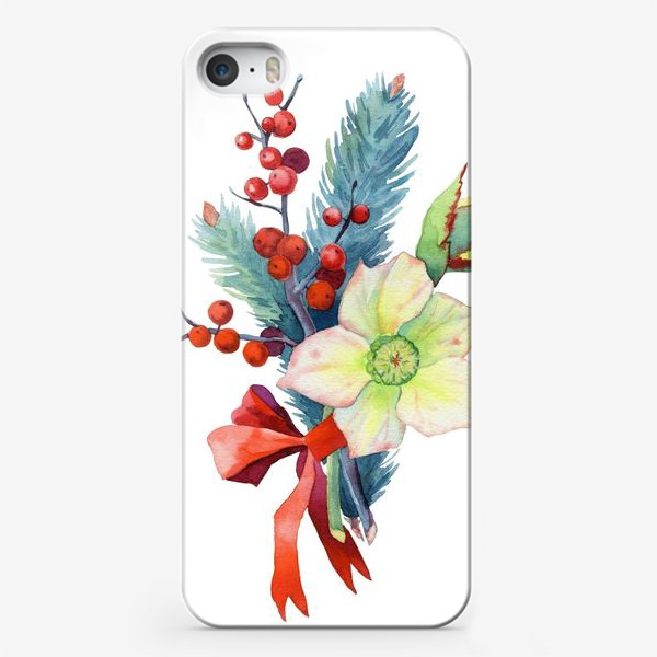 Чехол iPhone «Зимний букет»